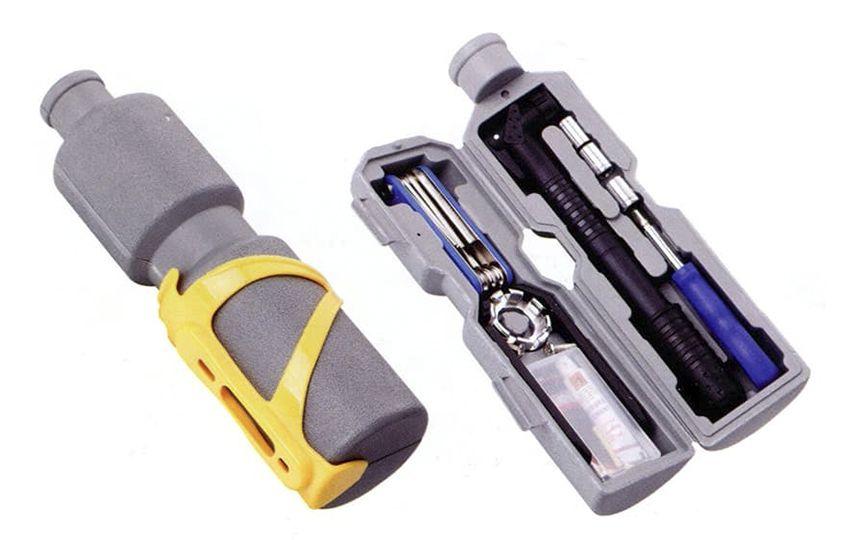 Набор велоинструментов Kenli KL-9806 Kenli из 11-ти предметов в футляре в форме фляги/230150