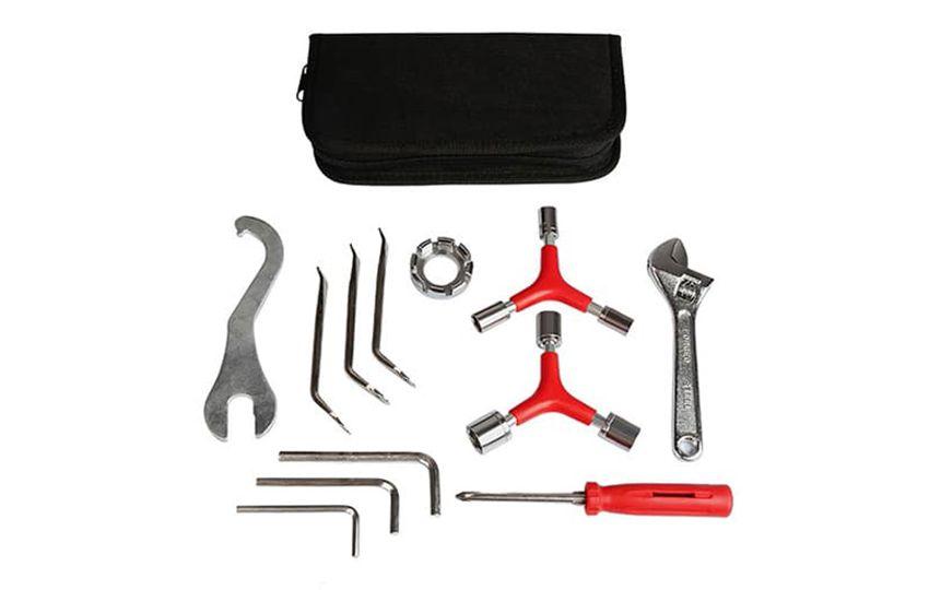 Набор велоинструментов Kenli KL-9808 из 12-ти предметов в футляре/230141