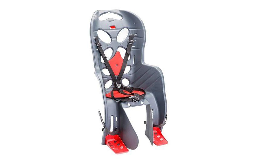 Велокресло детское FRAACH С (крепл.на багажник), (Италия) темно-серое/280040