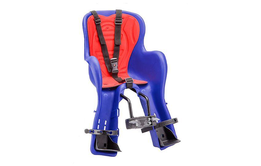 Велокресло детское KIKI T (крепление на раму), синее (Италия)/280046