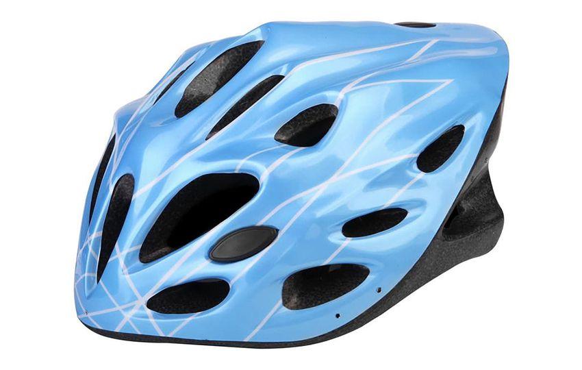 Шлем д/велосипедистов MV-21 голубой/600017