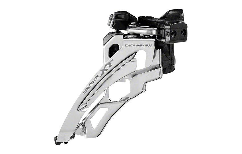 Переключатель передний Shimano XT M8000L нижний хомут side-swing для 3x11 верхняя тяга IFDM8000LX6