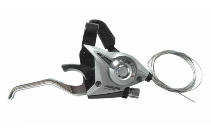 Шифтер/тормозная ручка Shimano Tourney ST-EF51 прав 9ск 2050 мм серебро б/уп ASTEF51R9AS