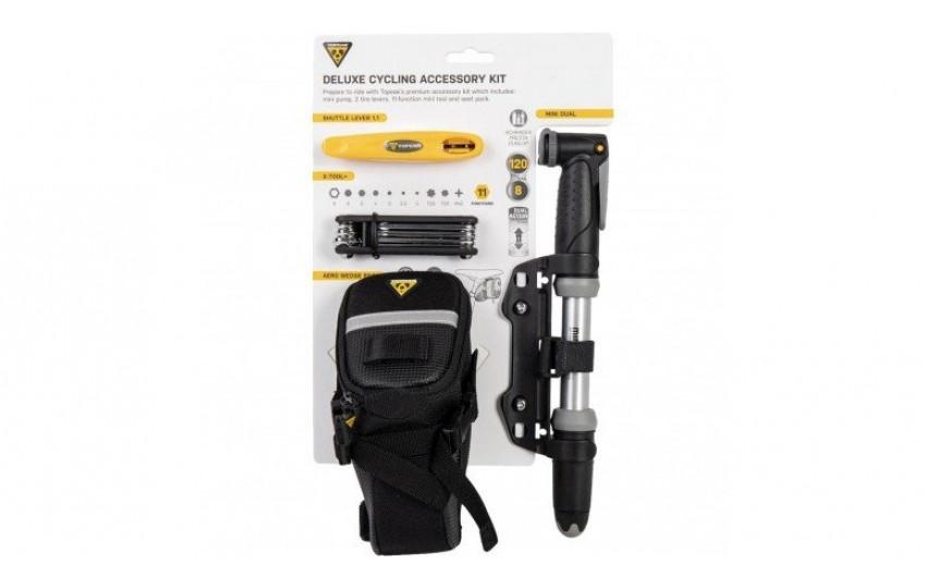 Набор с насосом Topeak Deluxe Cycling Accessory Kit TC2407