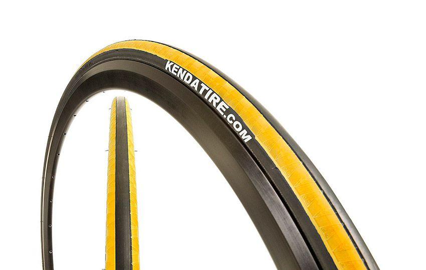 "Велопокрышка 28"" KENDA клинчер K-1081 KADENCE (700х23С) черн.-желт."