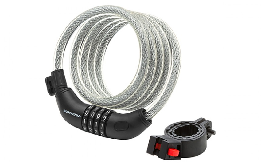Велозамок Schwinn Combination Cable Lock, тросовый на коде