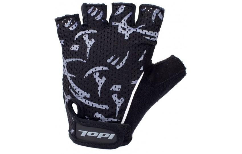 Велосипедные перчатки Idol, разм. L, черные