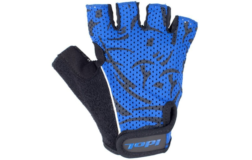 Велосипедные перчатки Idol, разм. L, синие