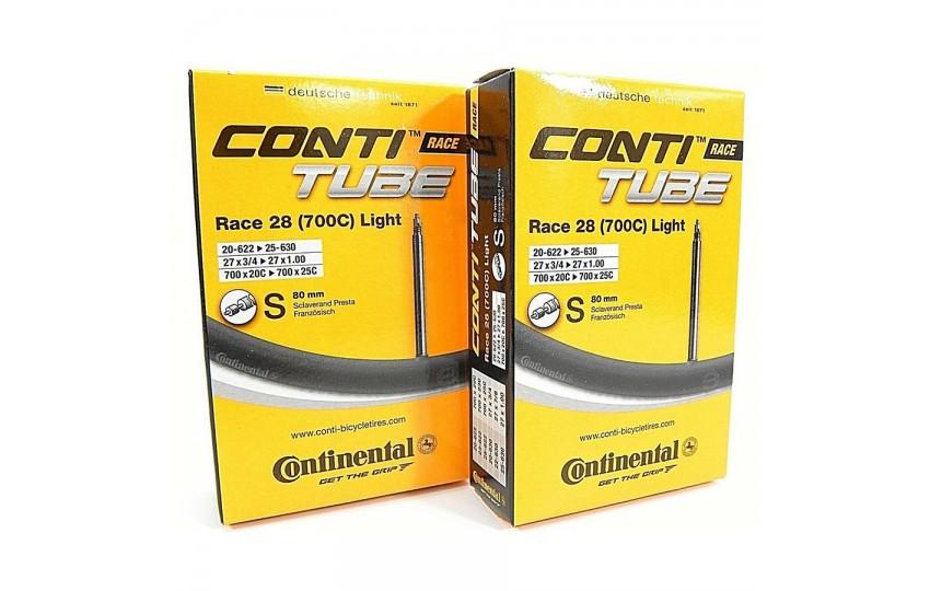 "Камера 28"" 700х20-25mm Continental Race Light 28 вело нип.80mm (80гр)"