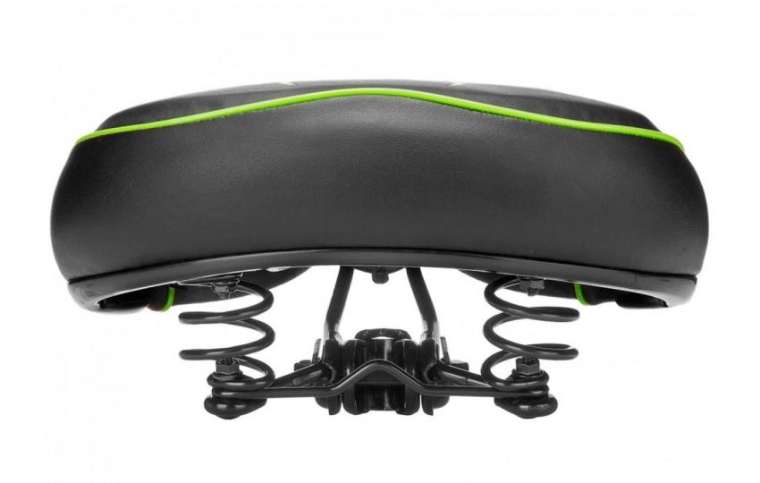 Седло вело VL-80158S(8) Черно-зеленый