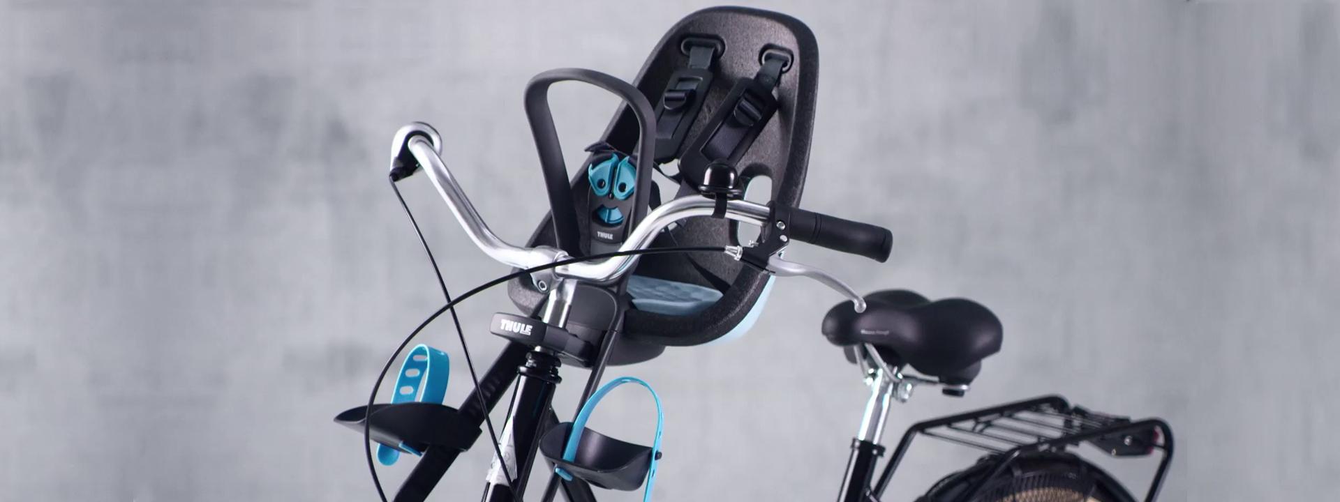 Фото детского велокресла вблизи
