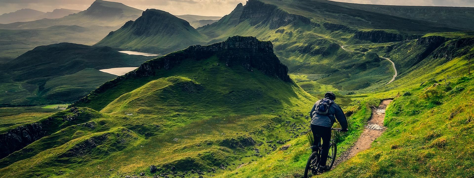 Фото горного велосипеда в долине