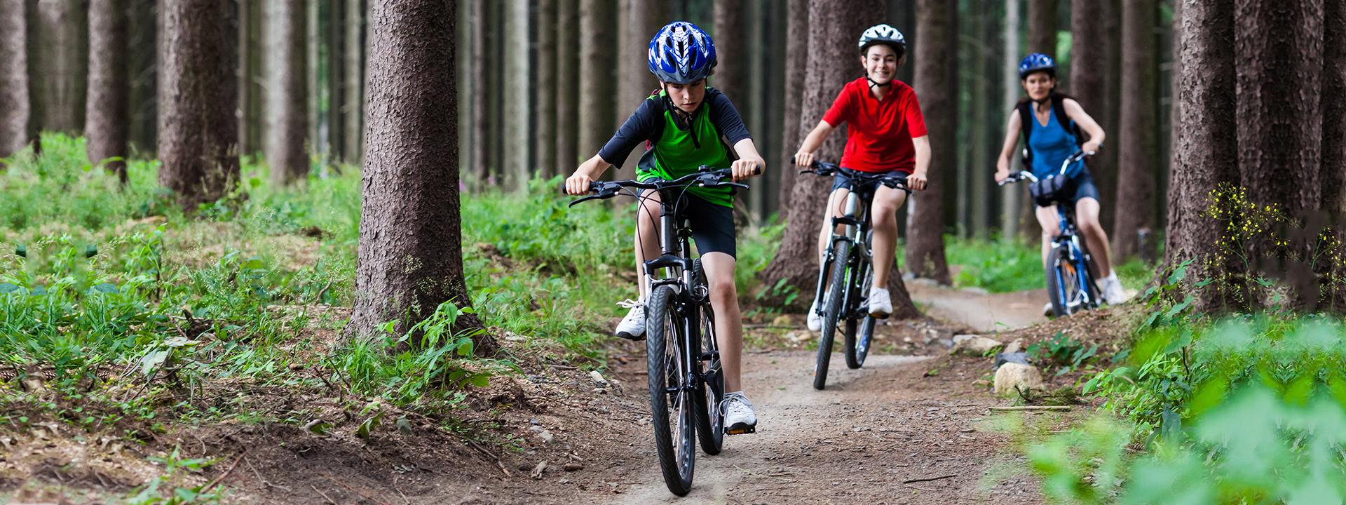 Фото подросткового велосипеда в лесу