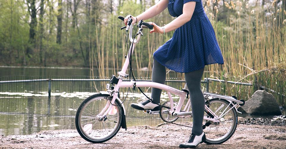 Фото женского складного велосипеда